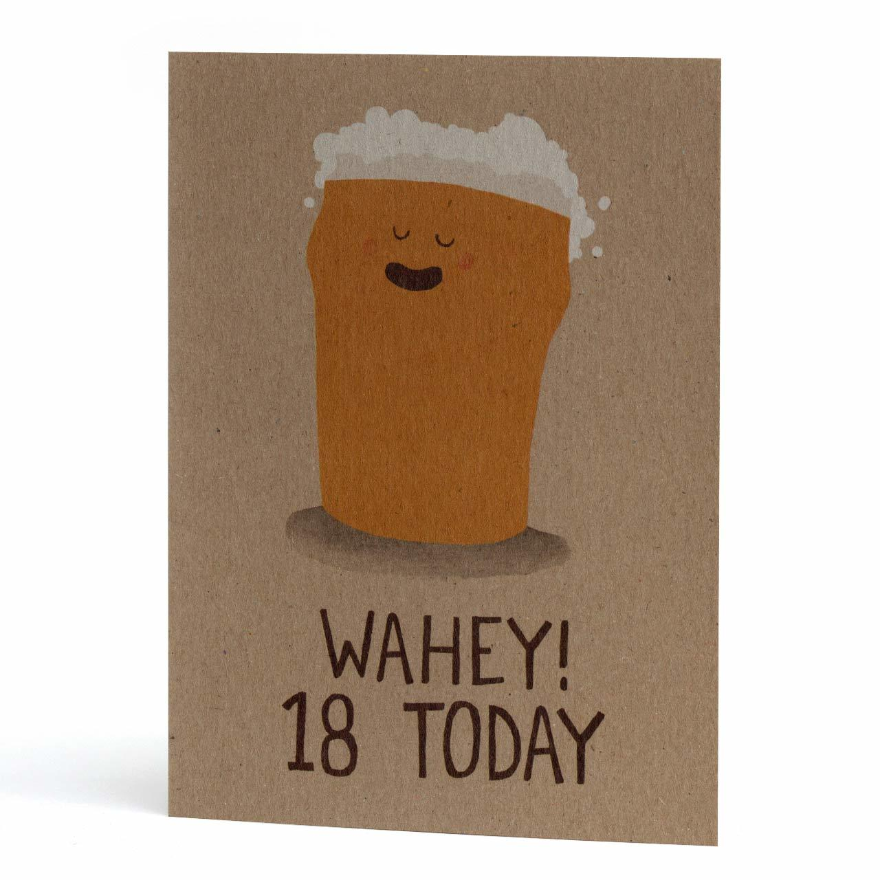 Wahey 18 Today Greeting Card