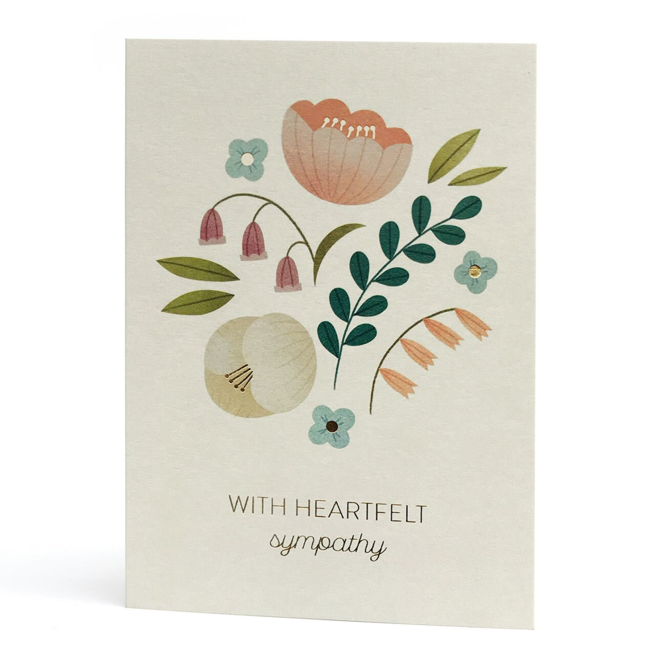 With Heartfelt Sympathy Gold Foil Greeting Card