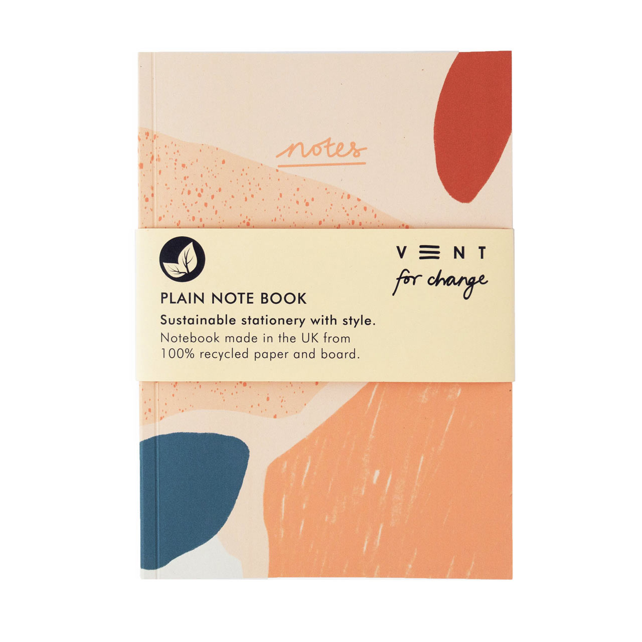Coral Recycled A5 Plain Paper Notebook