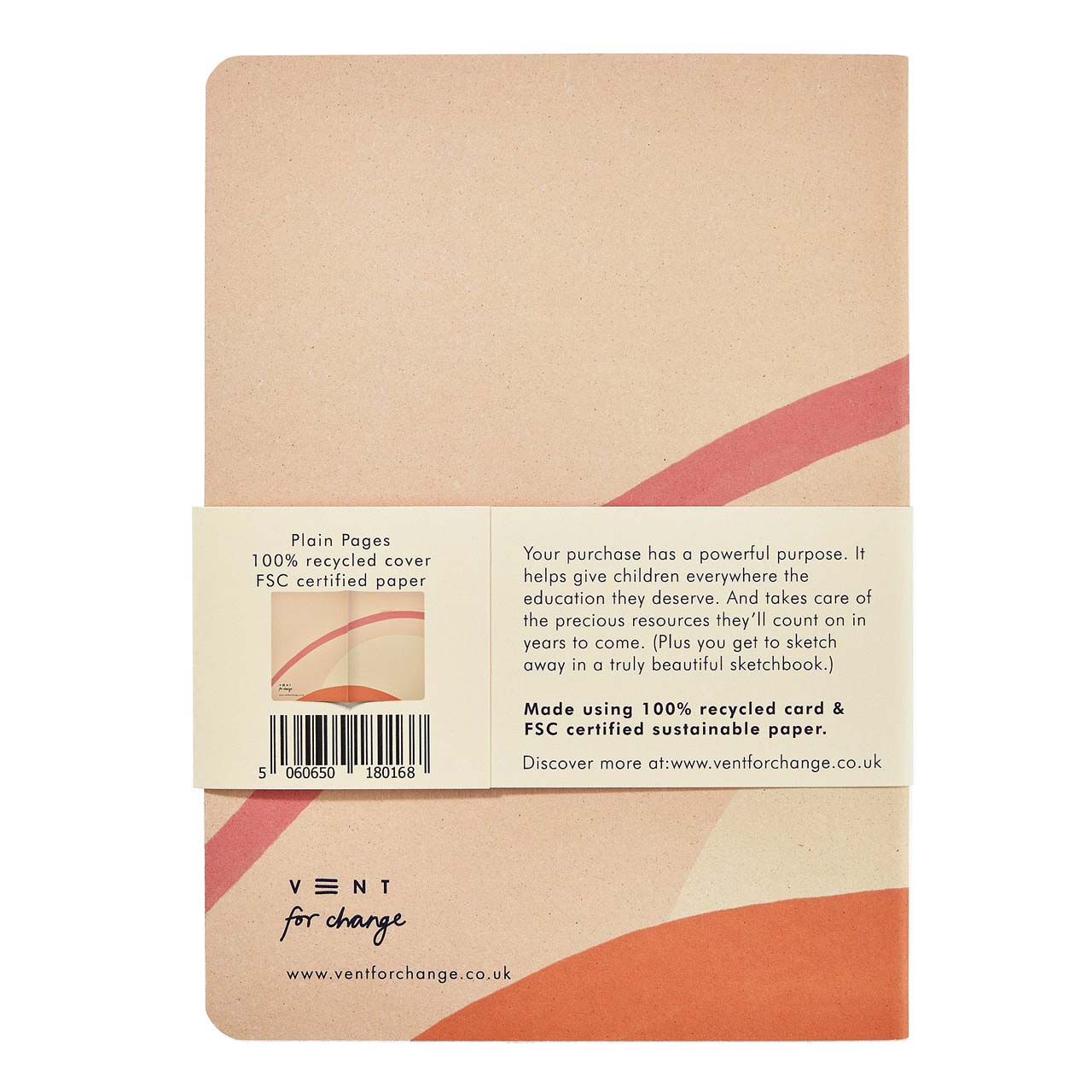 Ideas Cream Recycled & Sustainable A5 Lined Notebook