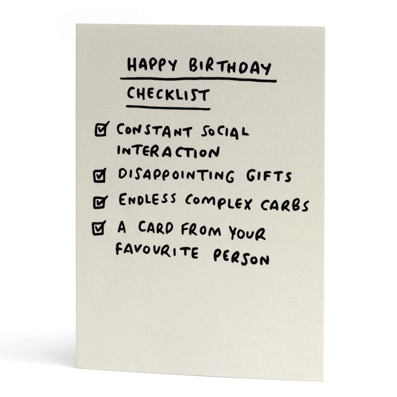 Happy Birthday Checklist Card