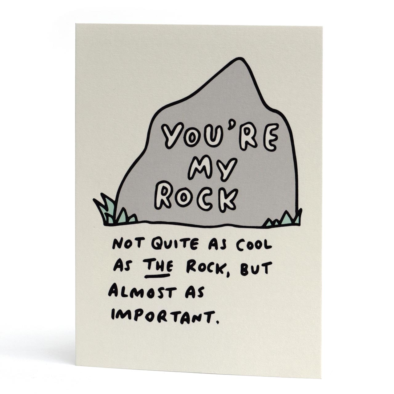 You're My Rock Love Card
