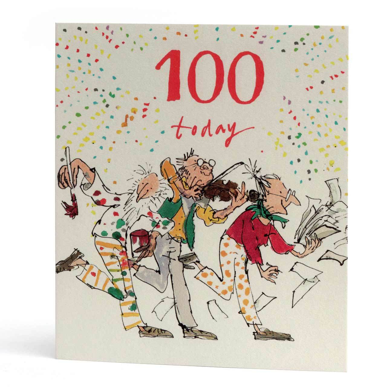 100 Today Century Birthday Greeting Card