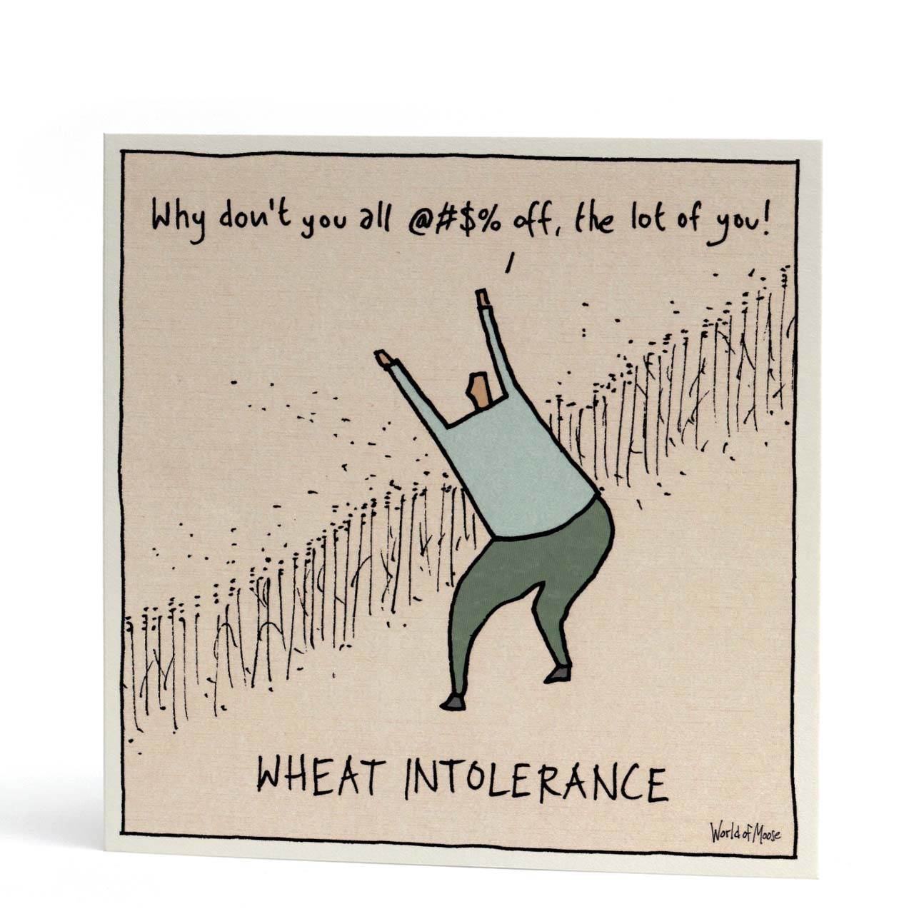Wheat Intolerance Greeting Card