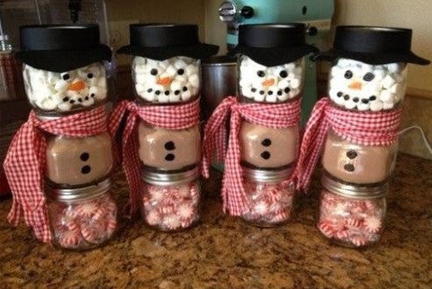 Snowman Hot Chocolate Stacks