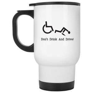 Drink & Roll - White Travel Mug