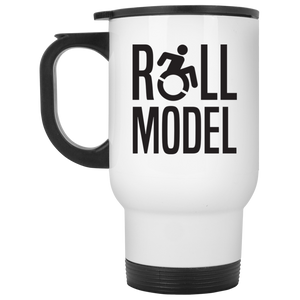 Roll Model - White Travel Mug