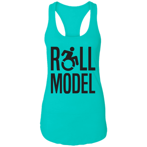 Roll Model - Ladies Racerback Tank