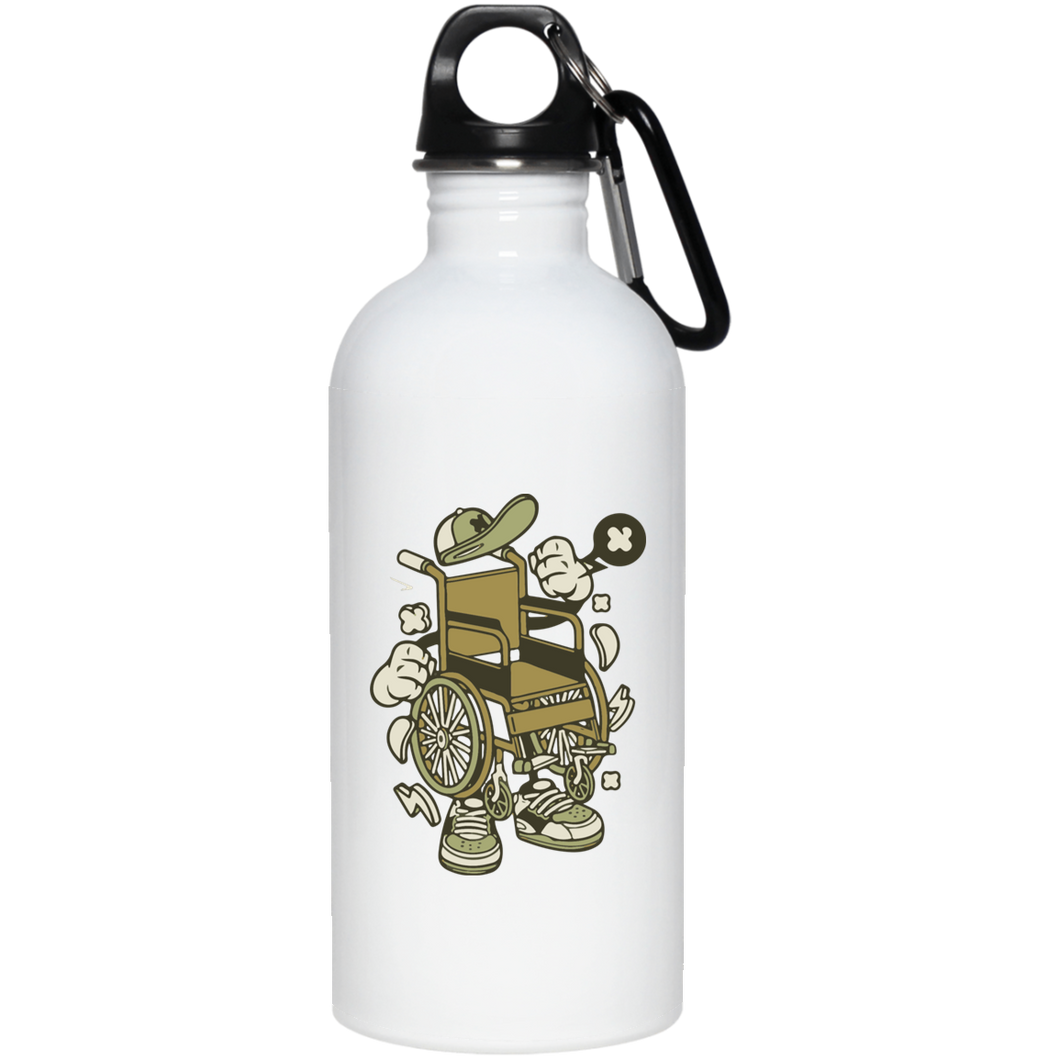 WHEELY - 20 oz. Stainless Steel Water Bottle