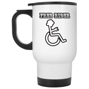 FREE RIDER - White Travel Mug