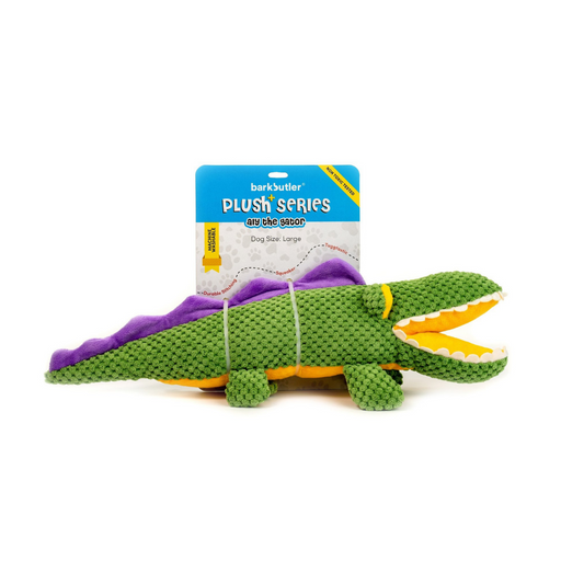 Barkbutler™: Aly-The-Gator Stuffed Dog Toy