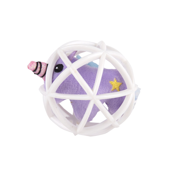 Fofos™: Cat Toy-Purple Unicorn in a Cage