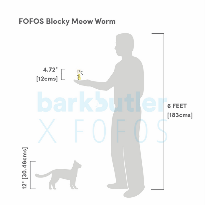 Fofos™:  Cat Toy-Blocky Meow Worm