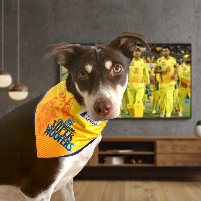 ThePetNest X Barkbutler - Chennai Super Kings Woofers Dog Bandanas