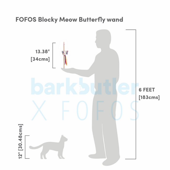 Fofos™: Cat Toy-Blocky Meow Butterfly Worm