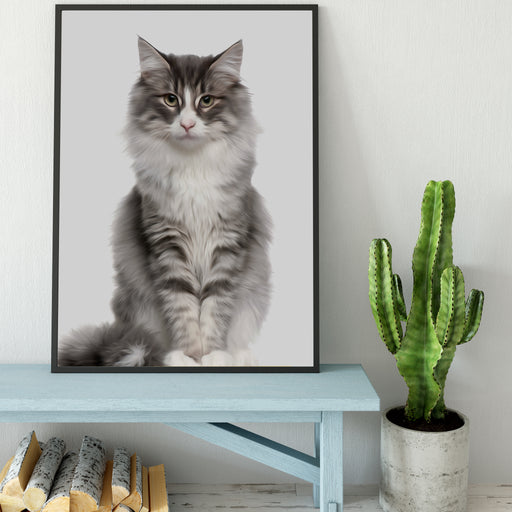 Custom Pet PAWtrait Poster - Framed