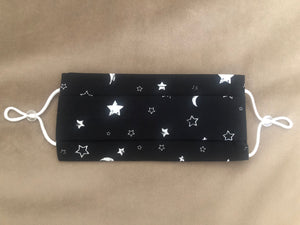 Stars and moon In Black