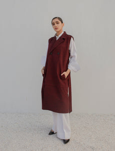 Sleeveless Duster Overcoat