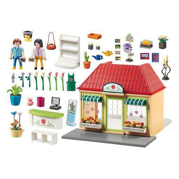 Playset City Life Florist Shop Playmobil 70016 (166 pcs)
