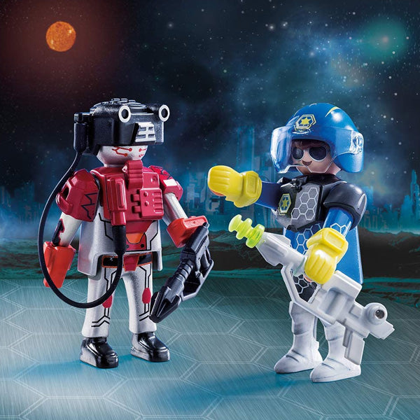 Muñecos City Action Space Police And Thief Playmobil 70080 (17 pcs)