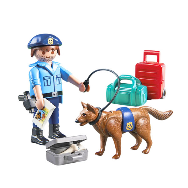 Muñecos City Action Police With Dog Playmobil 70085