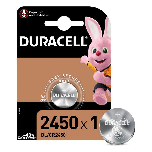 Pilas de Botón de Litio DURACELL DL/CR2450 3 V (Reacondicionado A+)