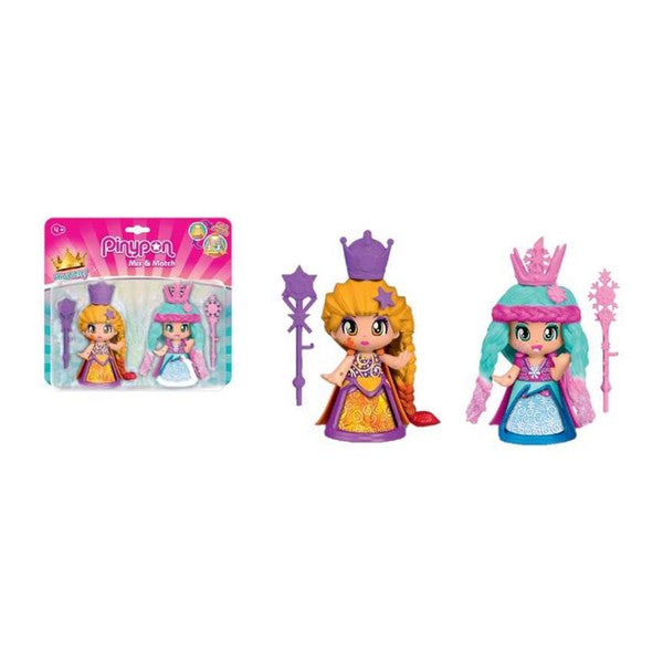 Muñecos PinyPon Mix & Match Queens Famosa (2 pcs)