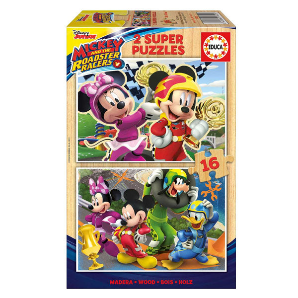 Puzzle Mickey and the Roadster Racers Educa (16 pcs)