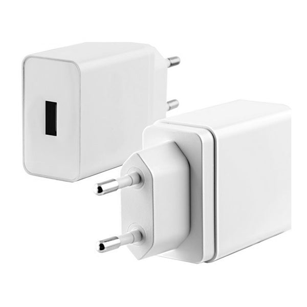 Cargador USB Pared KSIX Quick Charge 3.0 Blanco