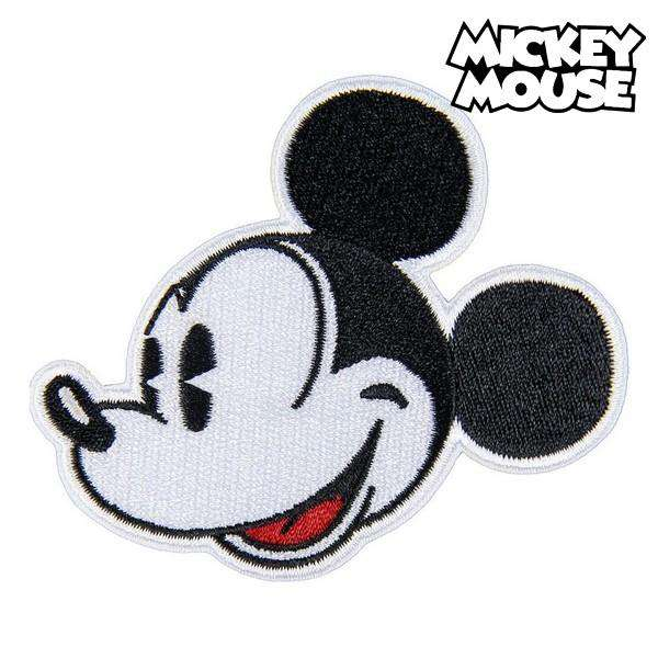 Parche Mickey Mouse Negro Blanco Poliéster