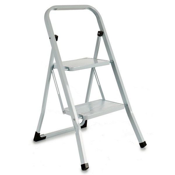 Escalera plegable Blanco Metal (3 x 86 x 48 cm)