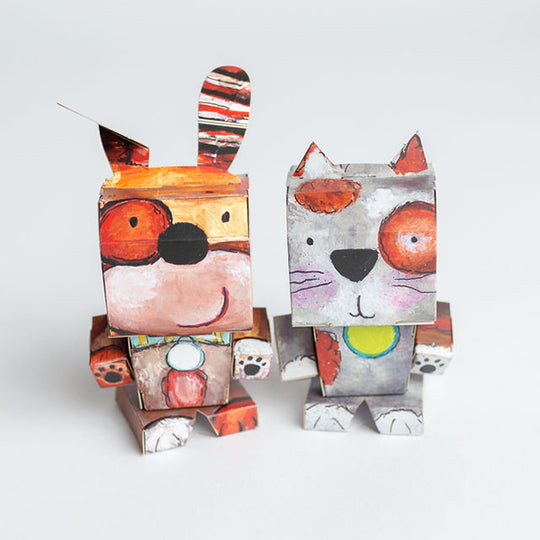 Cubles Dog and Cat Set