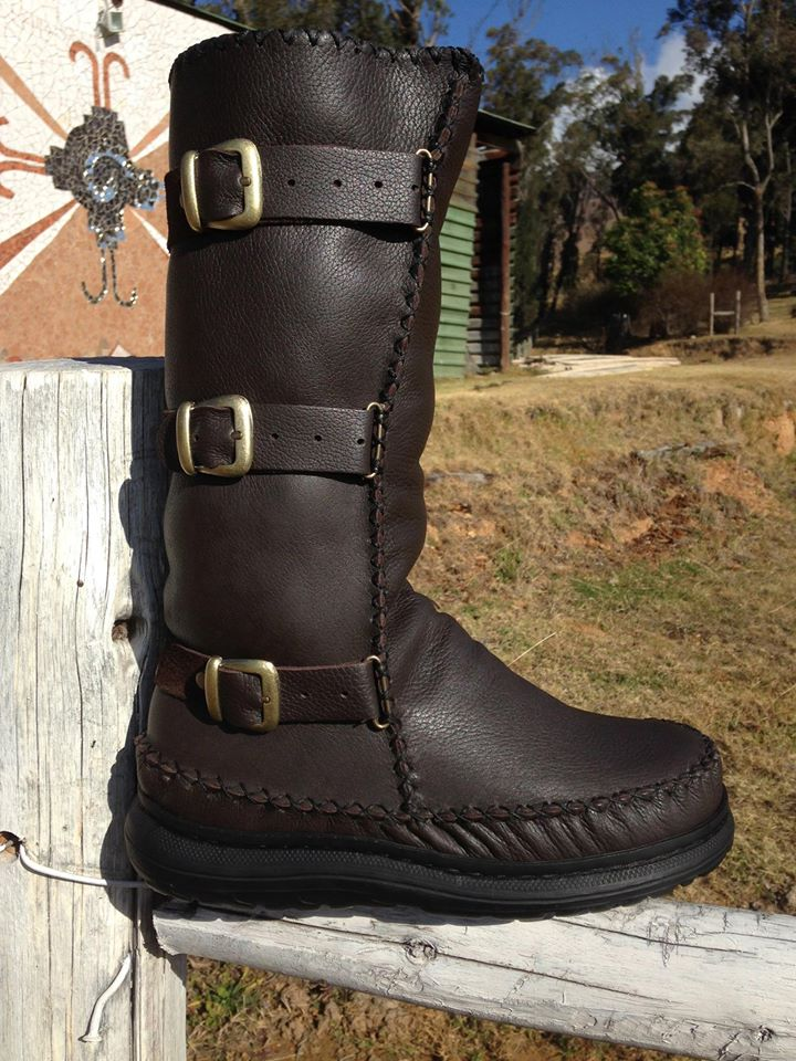 Custom Leather Biker Boots