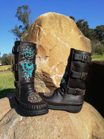 Load image into Gallery viewer, Custom Leather Biker Boots