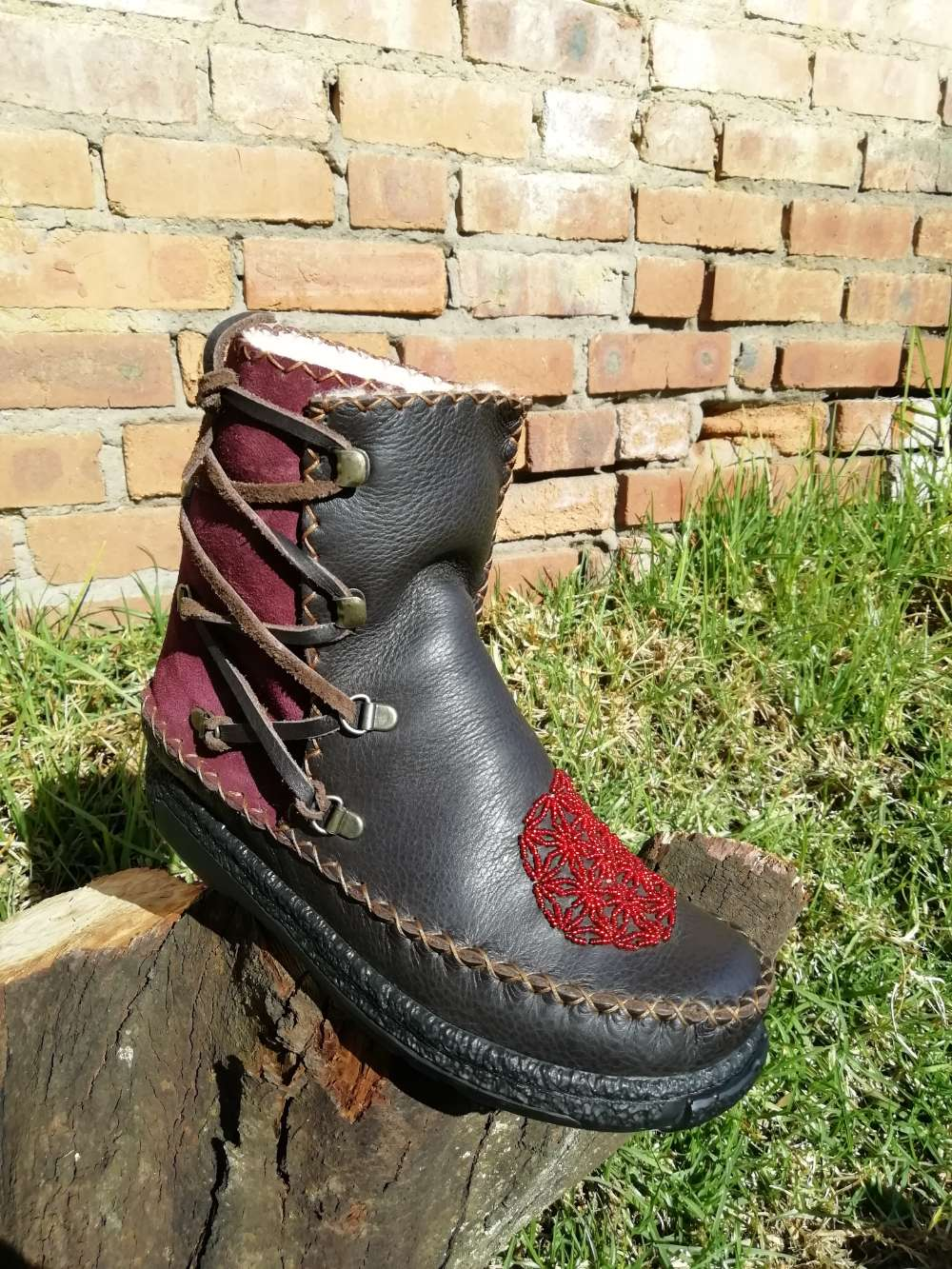 Low Lace Boots (UK 4)
