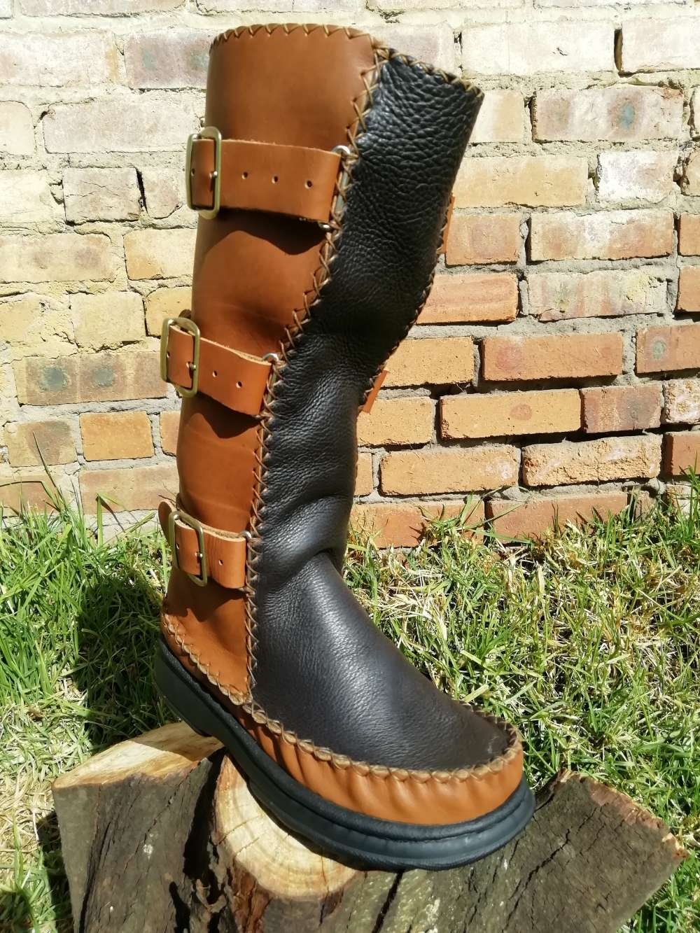 Leather Biker Boots (UK 6)