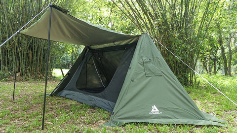 Hot shelter with inner tent