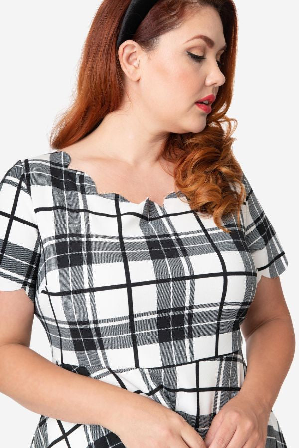 Black & White Plaid Charmed Dress by Smak Parlour