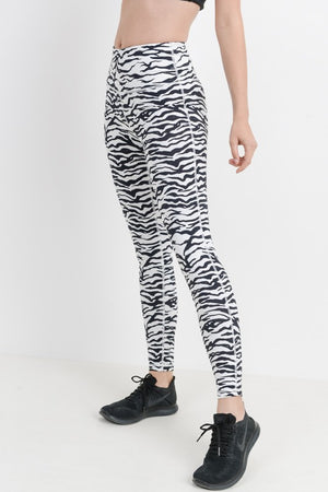 Zebra High Waisted Workout Leggings