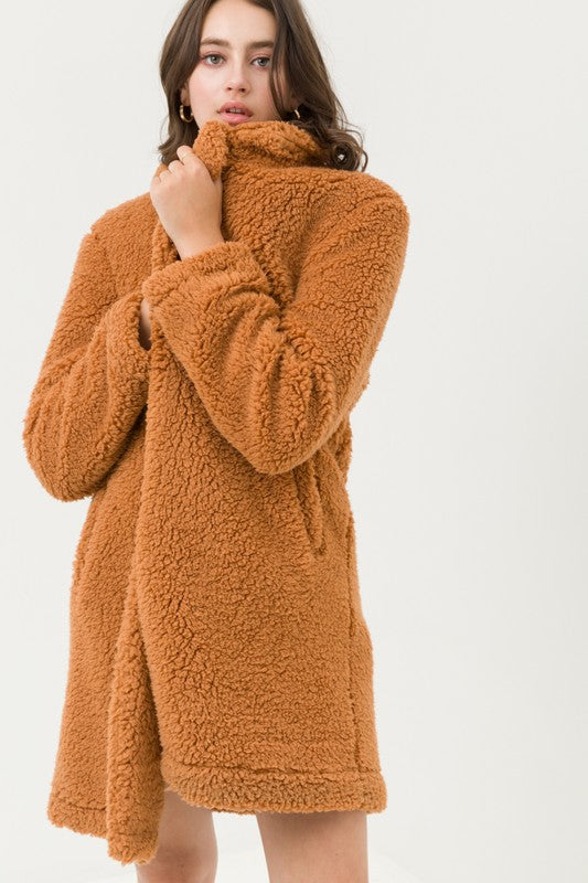 Teddy or Not Camel Faux Fur Coat