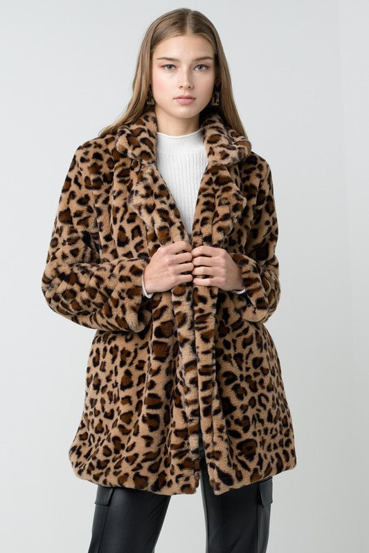 Purr It's Cold Cheetah Teddy Coat
