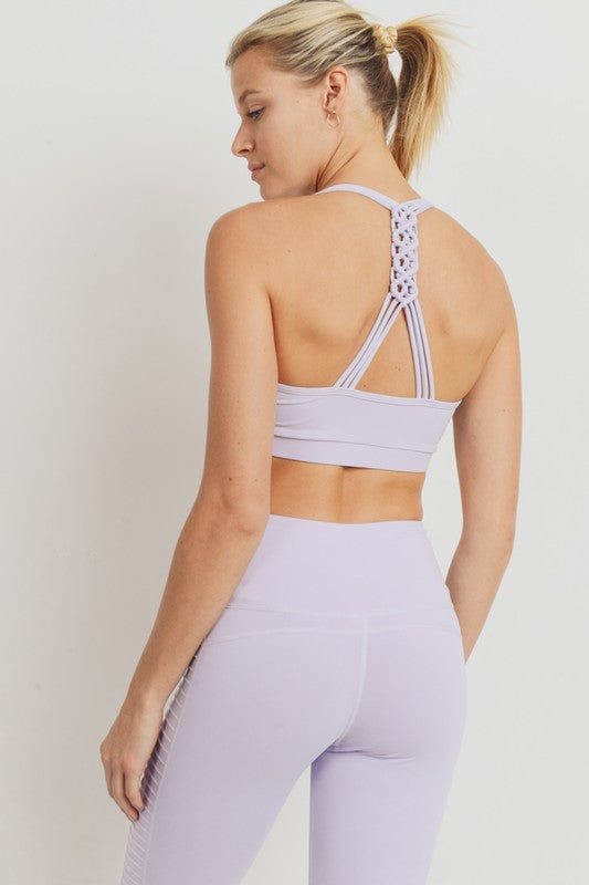 Lavender Braided Back Sports Bra