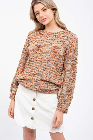 Taupe Snakeskin Long Sleeve Tie Front Top