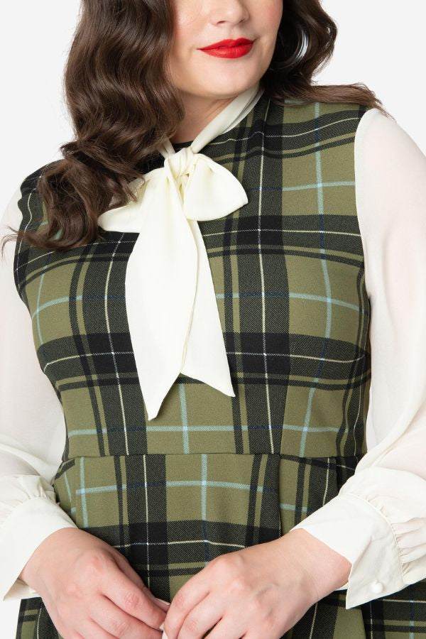 Hunter Green Plaid She.E.O. by Smak Parlour