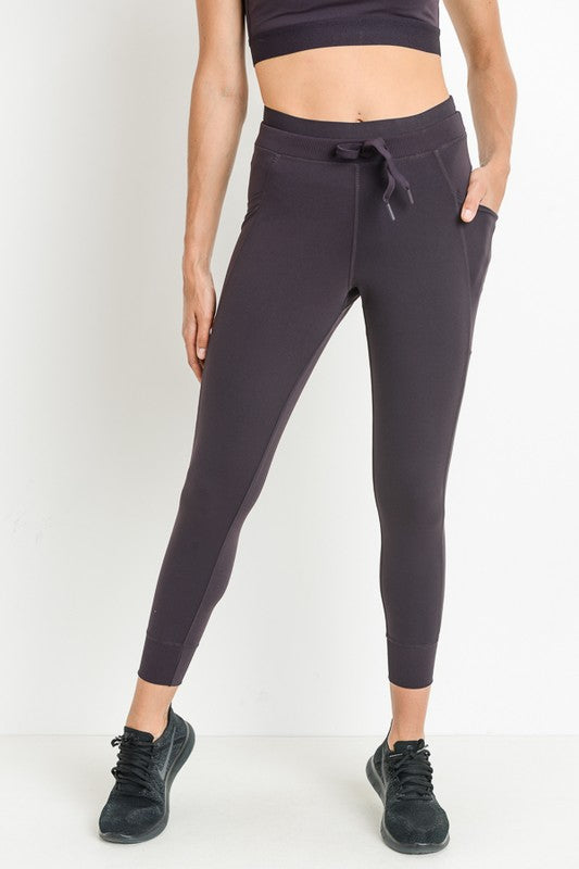 Dark Purple Athletic Joggers with Drawstring Waist