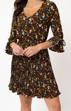 Multi Floral Lead Like A Girl Pleated Dress by Smak Parlour