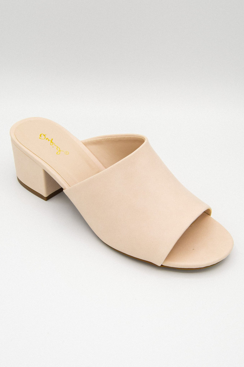 Nude Small Block Heeled Mule