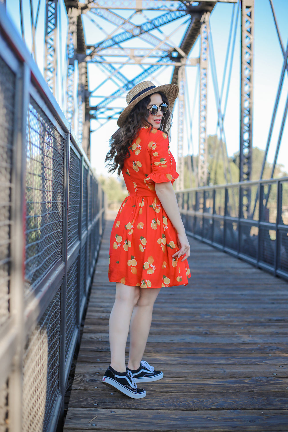 Media Darling Red Lemon Print Dress by Smak Parlour