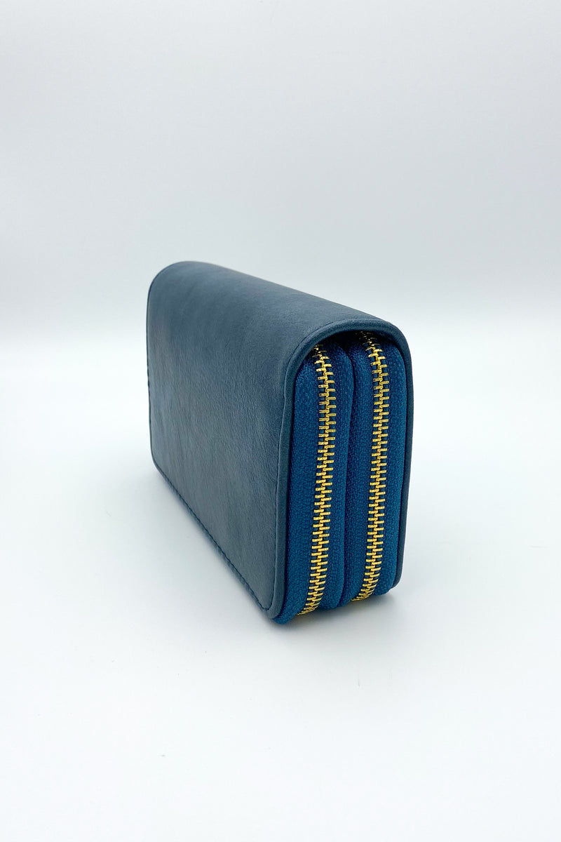 Seeing Double Zip Faux Leather Wallet