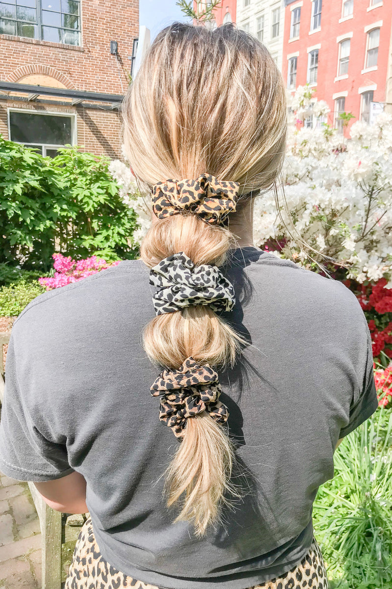Silky Animal Print Hair Scrunchie